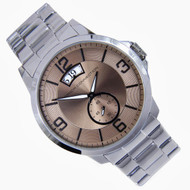 French Connection Bronze Dial Analog Dress Quartz Mens Watch FC1209SM