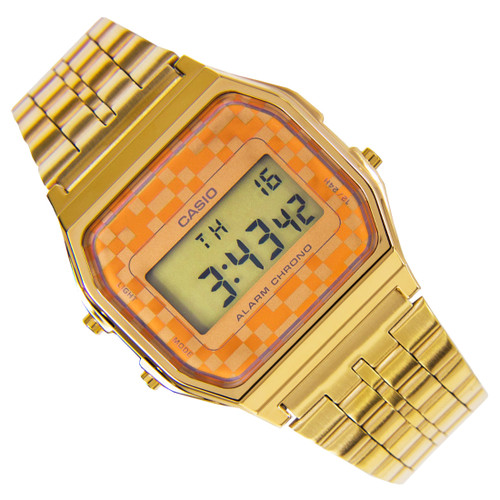 Casio Vintage Gold Mens Digital Dress Watch A159WGEA-9ADF A159WGEA