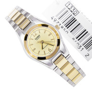 Casio Quartz Gold Dial Ladies Dress Watch LTP-1253SG-9ADF LTP1253SG