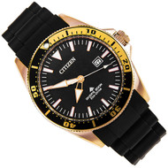Citizen Eco-Drive WR200m Analog Black Mens Divers Watch BN0104-09E