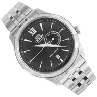 Orient Black Dial Automatic Stainless Date Mens Dress Watch ES00002B