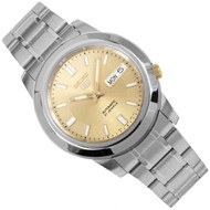 Seiko 5 Automatic Gold White Mens Casual Watch SNKK13K1