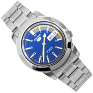 Seiko 5 Automatic Blue Speed Dial Stainless Steel Mens Watch SNKK27K1