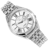 Seiko 5 Automatic Roman Numerals White Dial Mens Casual Watch SNKL29K1