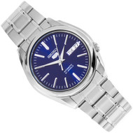 Seiko 5 Automatic Blue Dial See-Thru Back Mens Casual Watch SNKL43K1