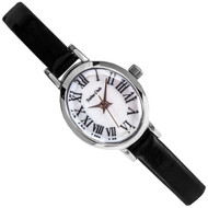 Milton Stelle Black Leather Ladies Fashion Watch MS-079S MS079S