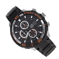 Alba SignA Chrono Mens Black Orange Stainless Watch AM3107X1 AM3107X