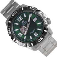Orient Automatic Green Dial Mens WR200m Diver Watch FDW03001F DW03001F
