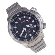 Citizen Eco-Drive GMT Promaster Mens Pilot Stainless Watch BJ7081-51E