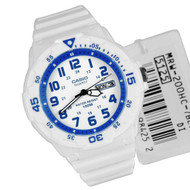 Casio Quartz Timer Bezel Analog White Watch MRW-200HC-7B2V MRW-200HC-7B2 MRW200HC