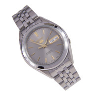 Seiko 5 Automatic Analog Gray Dial Gold Marker Watch SNKL19K SNKL19