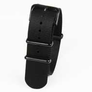 22mm Black Nylon Strap