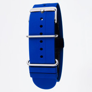 22MM BLUE SILICON ZULU STRAP