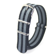 18MM BLACK-BLUE STRIPED NYLON