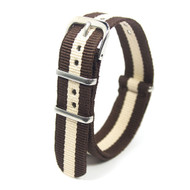 18MM BROWN-BEIGE NYLON