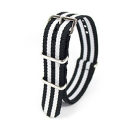 18MM ZEBRA STRIPED NYLON