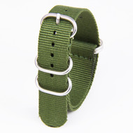 18MM GREEN NYLON ZULU STRAP