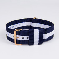 20MM STRIPED  DARK BLUE WHITE