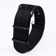 20MM BLACK NYLON WATCH STRAP 20ANATOB01