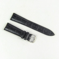 20MM BLACK LEATHER STRAP 20C01