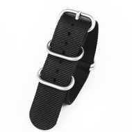 20MM BLACK NYLON ZULU STRAP 20A5ZULUB06