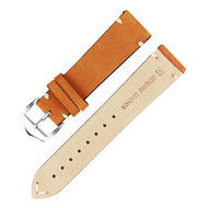 20MM LIGHT BROWN SUEDE LEATHER WATCH STRAP