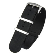 20MM BLACK SEATBELT NATO STRAP 20ASBNATO329