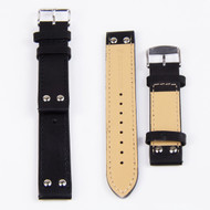 20MM BLACK LEATHER WATCH STRAP 20A76H01A