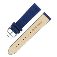 22MM BLUE SUEDE LEATHER WATCH STRAP