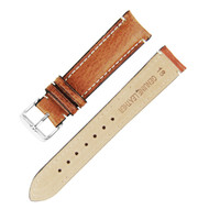 18MM LIGHT BROWN GENUINE LEATHER WATCH STRAP