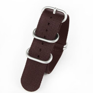 22MM BROWN NYLON ZULU STRAP