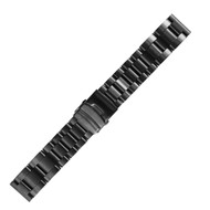 26MM STAINLESS STEEL BLACK WATCH STRAP