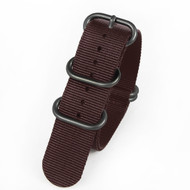 18MM BROWN NYLON ZULU STRAP