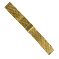 18MM MESH STAINLESS STEEL GOLD WATCH STRAP