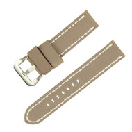 22MM LIGHT GREY SUEDE LEATHER WATCH STRAP