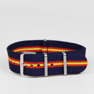 20MM STRAP NAVY RED YELLOW
