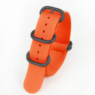 20MM ORANGE NYLON ZULU STRAP