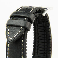 18MM HYBRID STRAP BLACK (ITALIAN LEATHER)