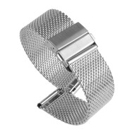 STAINLESS STEEL SILVER MESH WATCH STRAP