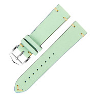 20MM MINT GREEN SUEDE LEATHER WATCH STRAP
