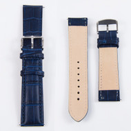 22MM GENUINE LEATHER BLUE WATCH STRAP
