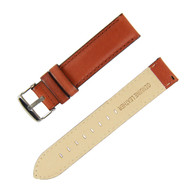 18MM BROWN LEATHER WATCH STRAP
