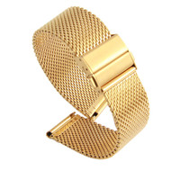 20MM MESH STAINLESS STEEL GOLD WATCH STRAP