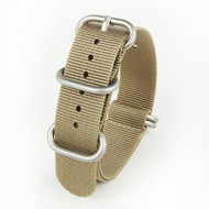 22MM SANDCASTLE TAN NYLON ZULU STRAP