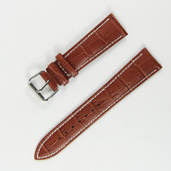 21MM BROWN LEATHER WATCH STRAP
