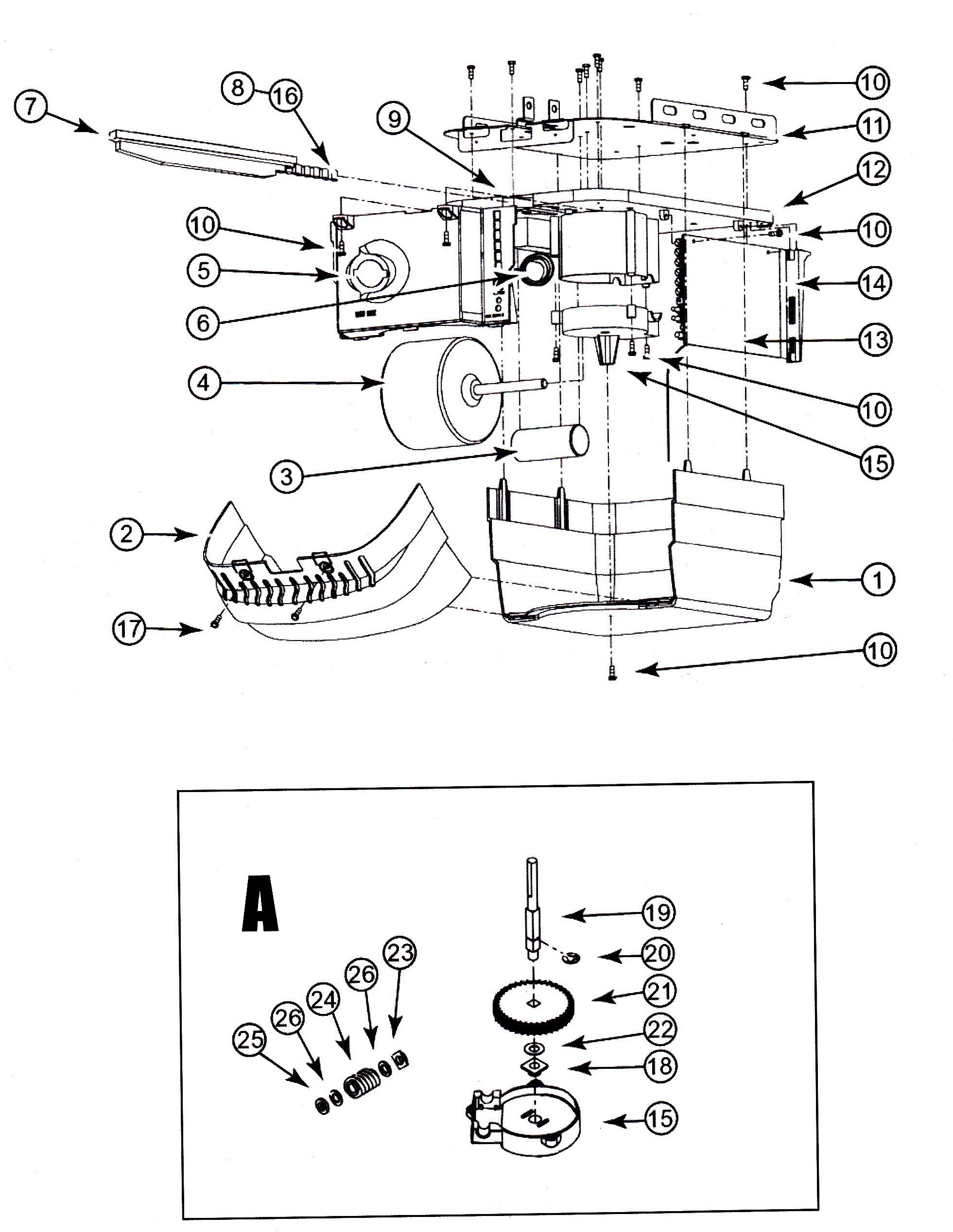 overhead door wiring diagram model sdb 101