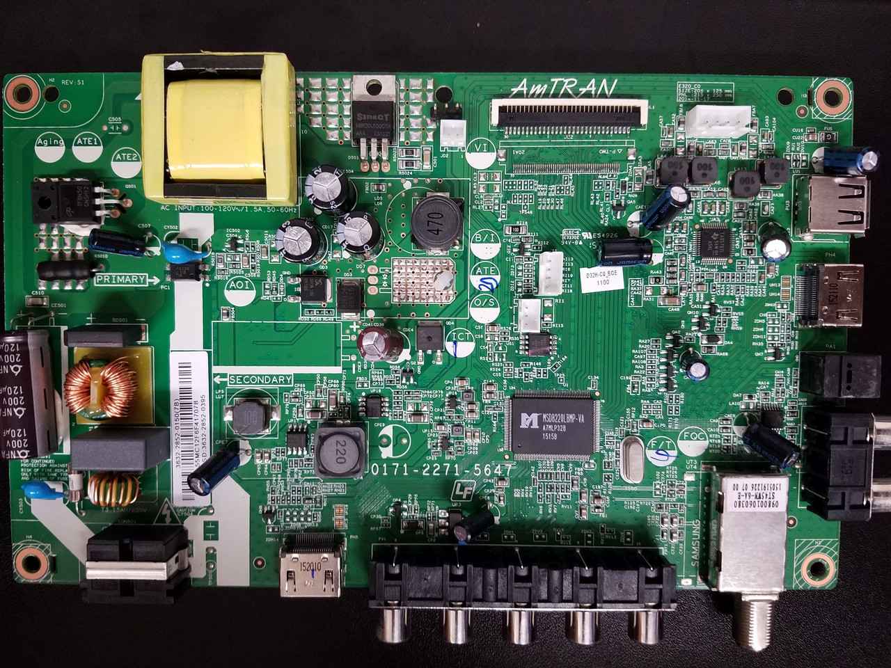 Vizio 3632-2852-0150 Main Board / Power Supply for D32H-C0