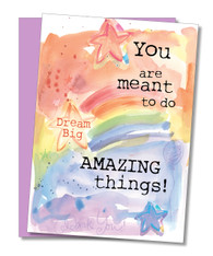 """Amazing Things"" Congratulations Card"