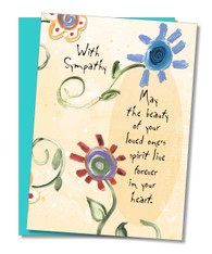 """Loved One's Spirit"" Sympathy Card"