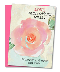 """Love Each Other Well"" Congratulations Card"